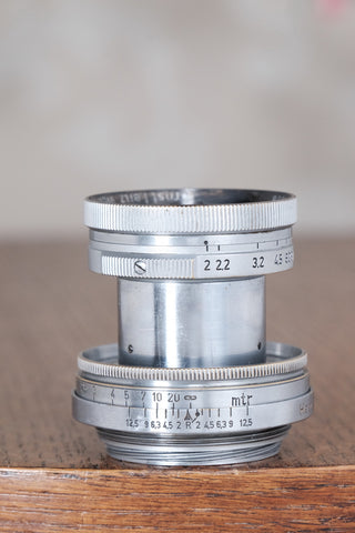 "RARE! 1940 Military Leitz 50mm Summitar lens, with ""HEER"" engraving."