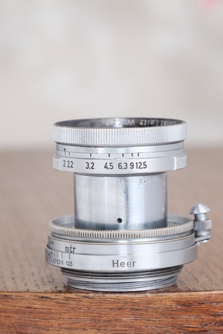 "RARE! 1940 Military Leitz 50mm Summitar lens, with ""HEER"" engraving. - Leitz- Petrakla Classic Cameras"