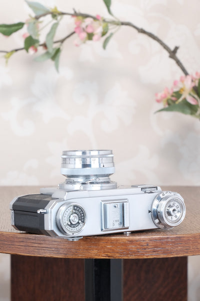 Superb! 1952 Zeiss Ikon Contax IIa with Lens and Original Leather Case. CLA'd, Freshly Serviced!