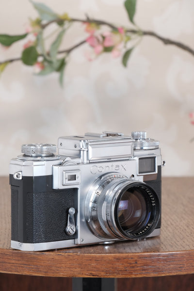 Superb! 1953 Zeiss Ikon Contax IIIa with coated Carl Zeiss 1.5 / 50mm Sonnar lens. CLA'd, Freshly Serviced!
