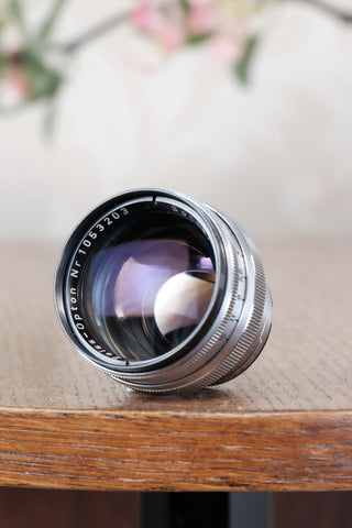 Near Mint! Coated F1.5/50mm Zeiss-Opton Sonnar Lens. For Contax rangefinder cameras<