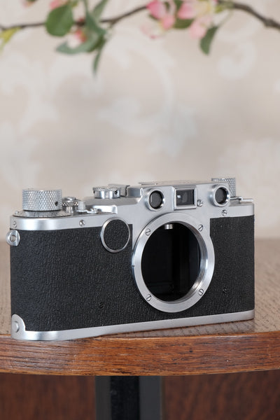Superb! 1949 Leitz Leica IIc, Freshly Serviced CLA'd!