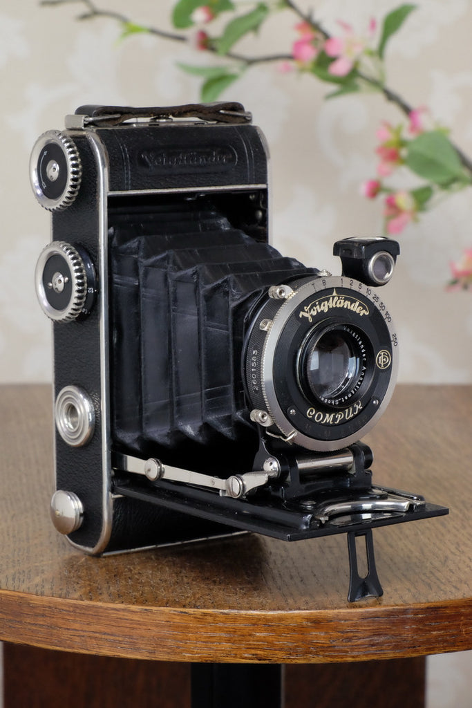 1933 Voigtlander Inos II 6x9 Folder, CLA'd, FRESHLY SERVICED!