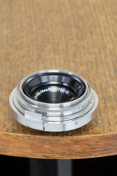 Near Mint! 1937 CARL ZEISS 28mm wide angle lens for  Contax II - Carl Zeiss Jena- Petrakla Classic Cameras