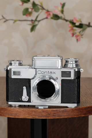 Near mint, 1937 Zeiss Ikon Contax III body, CLA'd, Freshly Serviced! - Zeiss-Ikon- Petrakla Classic Cameras
