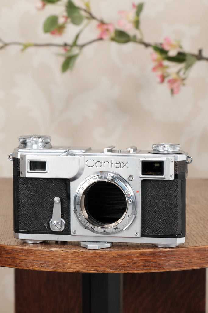 Superb! 1939 Zeiss Ikon Contax II Body, CLA'd, Freshly Serviced! - Zeiss-Ikon- Petrakla Classic Cameras