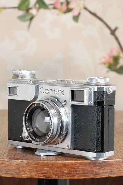 Superb! 1938 Zeiss Ikon Contax II Body and 50mm Zeiss Sonnar lens, CLA'd, Freshly Serviced!