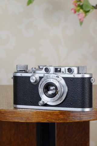 SUPERB! 1938 Leitz Leica IIIa with elmar lens CLA'd, FRESHLY SERVICED!