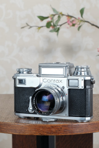 Superb 1941 Zeiss Ikon Contax with a 1.5/50mm T coated Sonnar, CLA'd, Freshly Serviced!