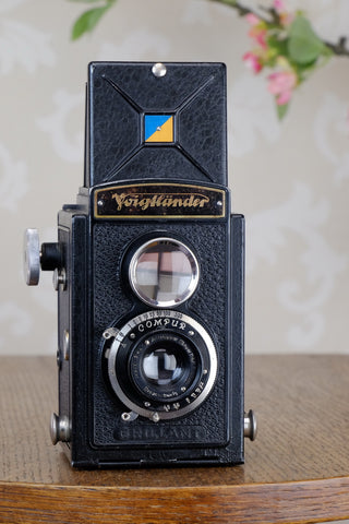 1932 Voigtlander Brillant 6x6 TLR, CLA'd, Freshly Serviced!