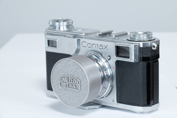 A Custom set of Front & Rear Lens Caps for the Carl Zeiss 50mm Contax rangefinder lens! One grey or black set, Free shipping!