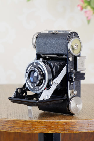 Near Mint 1950 Balda Baldini, 35mm camera, with lovely Leather Case, Freshly Serviced, CLA'd - Balda- Petrakla Classic Cameras