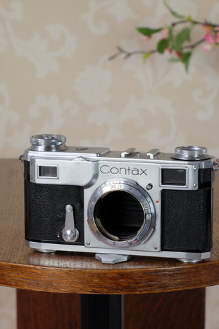 Superb! 1939 Zeiss Ikon Contax II, CLA'd, Freshly Serviced!