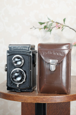1935 Rolleicord with Original case, CLA'd, Freshly Serviced!