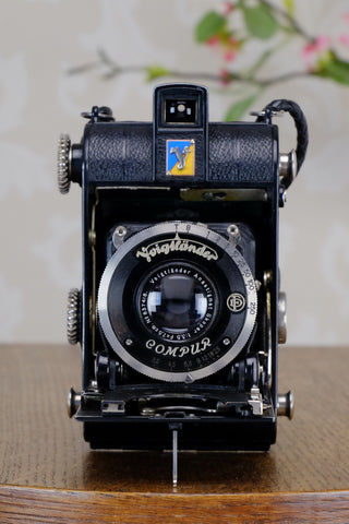 1934 Voigtlander Virtus 6x4.5 Folder, CLAd, FRESHLY SERVCED!