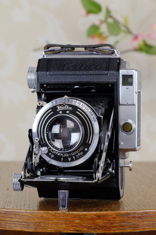 Near Mint! 1937 WELTA WELTUR, CLA'd 6x6 Medium format, Coupled Rangefinder Camera, CLAd, FRESHLY SERVICED!