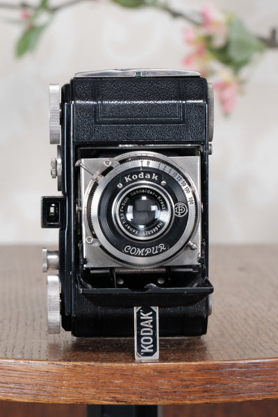THE ORIGINAL FIRST VERSION, 1934 Black Kodak Retina, model 117, CLA'd, Freshly Serviced! - Kodak- Petrakla Classic Cameras