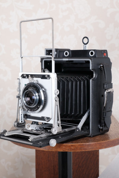 Near Mint! 1956 Graflex Crown Graphic, 4x5 coupled Rangefinder, CLA'd, FRESHLY SERVICED! - Graflex- Petrakla Classic Cameras