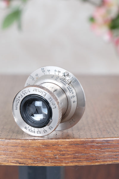 Superb early Leitz 50mm Nickel Elmar Screw mount lens. - Leitz- Petrakla Classic Cameras