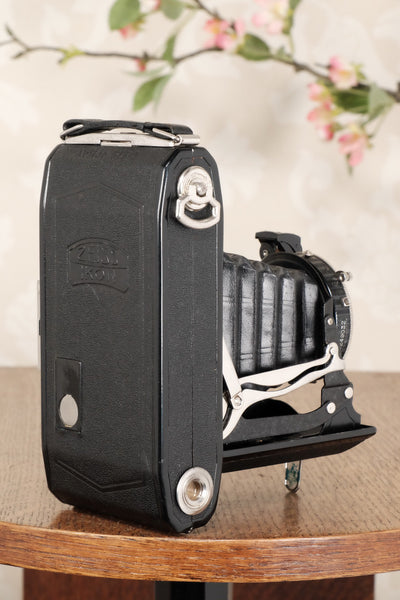 Superb 1936 Zeiss-Ikon 6x9 Folding Camera with Tessar lens, CLA'd, Freshly Serviced! - Zeiss-Ikon- Petrakla Classic Cameras