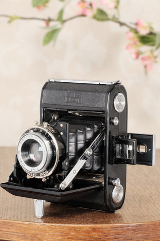 1937 ZEISS-IKON 6x4.5 Folding Camera, CLA'd, Freshly Serviced! - Zeiss-Ikon- Petrakla Classic Cameras