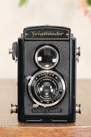 1935 Voigtlander Brillant 6x6 TLR, CLA'd, Freshly Serviced!