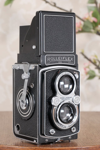 SUPERB! 1937 Rolleiflex, Very first Automat model with rare low serial number! Freshly Serviced, CLA'd - Frank & Heidecke- Petrakla Classic Cameras