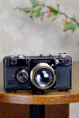 SUPERB! 1936 Zeiss Ikon Contax I, 35mm rangefinder, CLA'd, FRESHLY SERVICED