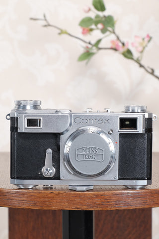 Superb! 1937 Zeiss Ikon Contax II Body, CLA'd, Freshly Serviced! - Zeiss-Ikon- Petrakla Classic Cameras