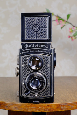 1934 Art-Deco Nickel-plated Rolleicord CLA'd Freshly Serviced! - Frank & Heidecke- Petrakla Classic Cameras
