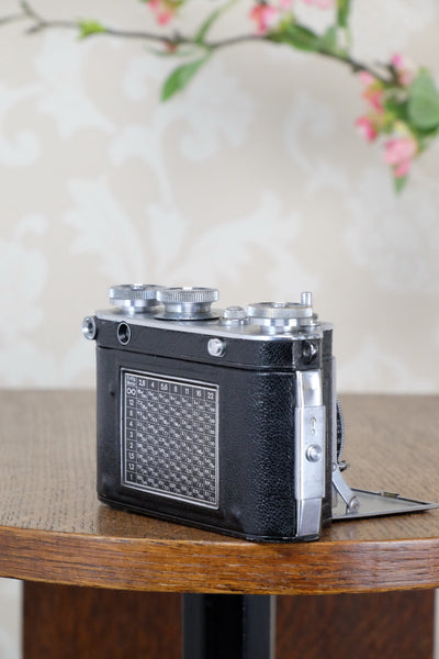 1937 35mm Certo Dollina III Rangefinder camera with f2.8/5cm Tessar lens, CLA'd, Freshly Serviced!