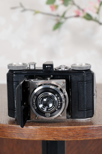 THE ORIGINAL FIRST VERSION, 1934 Black Kodak (Nagel) Retina, model 117, CLA'd, Freshly Serviced! - Kodak- Petrakla Classic Cameras
