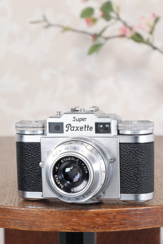 1956 Braun Super Paxette, 35mm coupled rangefinder camera. CLA'd, Freshly Serviced! - Welta- Petrakla Classic Cameras