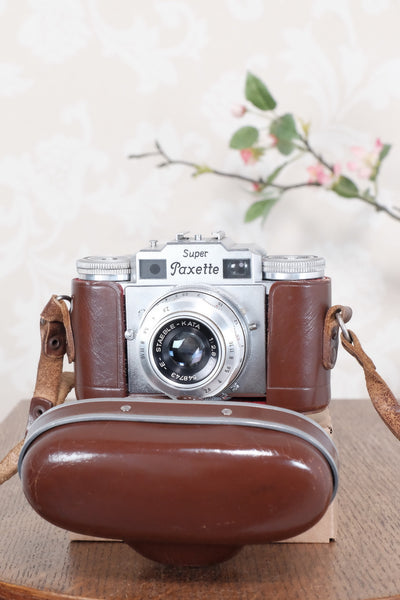 1956 Braun Super Paxette, 35mm coupled rangefinder camera. CLA'd, Freshly Serviced! - Braun- Petrakla Classic Cameras
