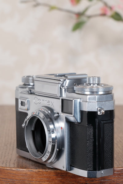 1953 Zeiss Ikon Contax IIIa, with lens and original leather case. CLA'd, Freshly Serviced! - Petrakla Classic Cameras