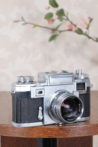 1953 Zeiss Ikon Contax IIIa, with lens and original leather case. CLA'd, Freshly Serviced!