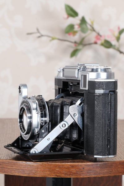 Superb! 1952 Zeiss-Ikon Super Ikonta B, Coated Tessar & Synchro-Compur.  CLA'd, Freshly Serviced! - Zeiss-Ikon- Petrakla Classic Cameras