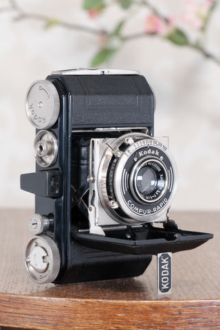 THE ORIGINAL FIRST VERSION, 1934 Black Kodak (Nagel) Retina, model 117, CLA'd, Freshly Serviced!