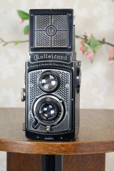 1933 Art-Deco Nickel-plated Rolleicord  CLA's, Freshly Serviced! - Frank & Heidecke- Petrakla Classic Cameras