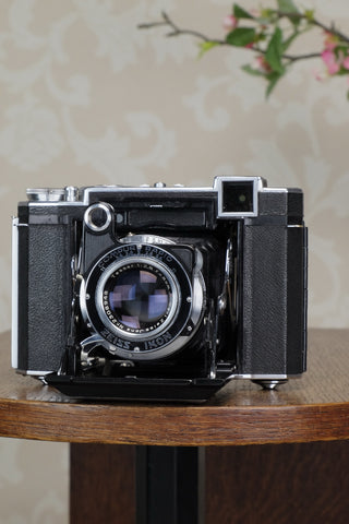 RARE! A 1938 Zeiss Ikon Super Ikonta, with T Coated Tessar lens, CLA'd, Freshly Serviced!