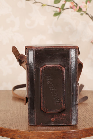 Original Mentor Mentorett leather camera case - Petrakla Classic Cameras