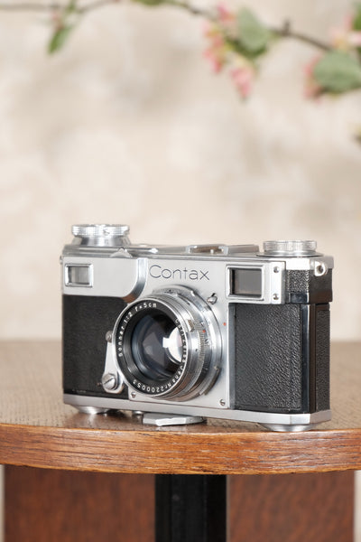 Excellent! 1936 Zeiss Ikon Contax II with Sonnar.  CLA'd, Freshly Serviced! - Zeiss-Ikon- Petrakla Classic Cameras