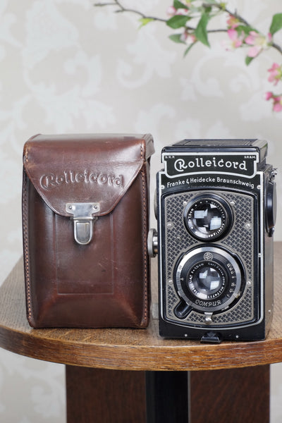 1936 Art-Deco Nickel-plated Rolleicord CLA'd Freshly Serviced! - Frank & Heidecke- Petrakla Classic Cameras