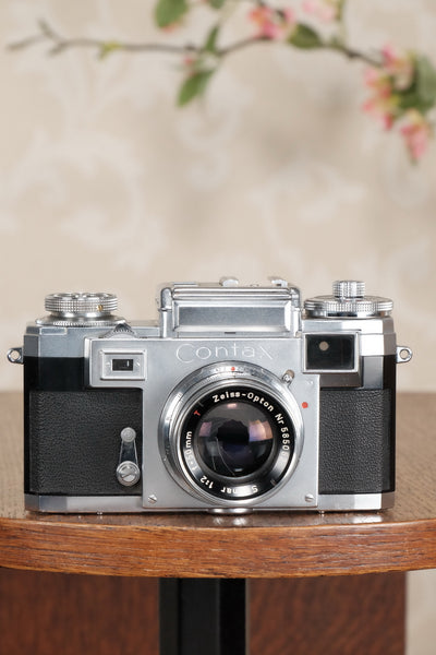 Superb! 1956 Zeiss Ikon Contax IIIa with Zeiss 50mm Sonnar lens, CLA'd, Freshly Serviced! - Zeiss-Ikon- Petrakla Classic Cameras
