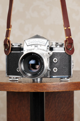 One brown or black leather camera strap for vintage cameras. Free Shipping! - Petrakla Classic Cameras