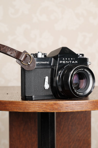 One brown leather wrist strap for vintage cameras. Free Shipping! - Petrakla Classic Cameras- Petrakla Classic Cameras
