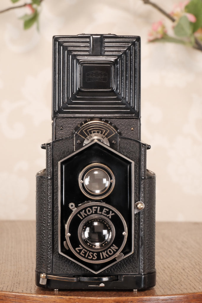 "Original 1934 , Zeiss-Ikon Art Deco ""Coffee-can"" Ikoflex, 850/16, CLA'd  Freshly Serviced! - Zeiss-Ikon- Petrakla Classic Cameras"