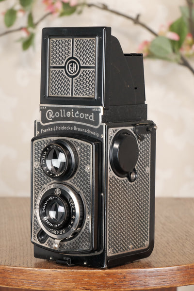 Superb! 1935 Art-Deco Nickel-plated Rolleicord  CLA'd, Freshley Serviced! - Frank & Heidecke- Petrakla Classic Cameras