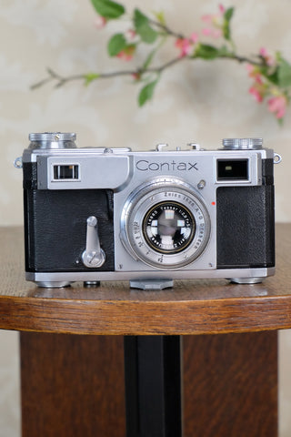 Excellent! 1938 Zeiss Ikon Contax II, CLA'd, Freshly Serviced!