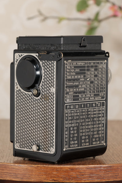 Superb! 1934 Art-Deco Nickel-plated Rolleicord CLA'd, Freshley Serviced! - Frank & Heidecke- Petrakla Classic Cameras